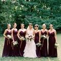 2016 Eggplant Long Dark Purple Bridesmaid Dress Floor Length Spaghetti Strap Elegant Wedding Party Vestido Madrinha De Casamento
