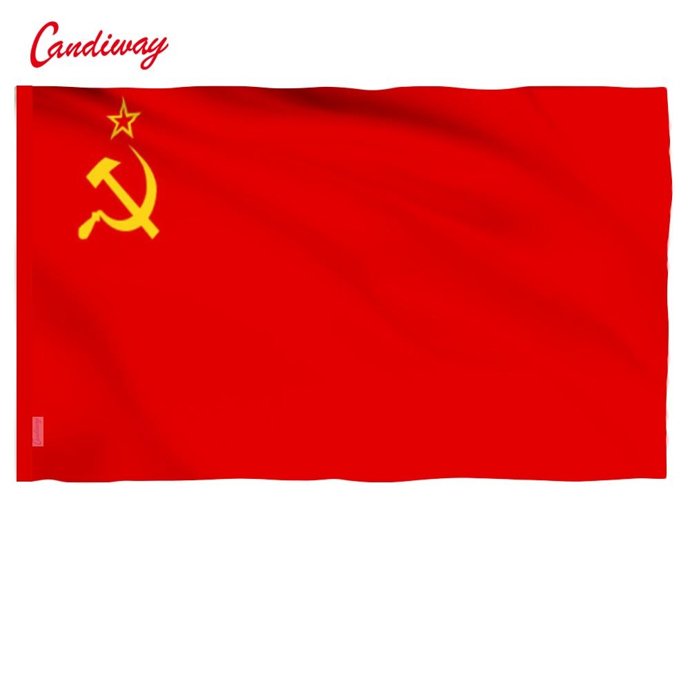 90 x 60 սմ CCCP դրոշ Կարմիր հեղափոխություն Սովետական Սոցիալիստական հանրապետությունների միություն փակ տարածություն ԽՍՀՄ FLAG Ռուսաստանի դրոշ NN001