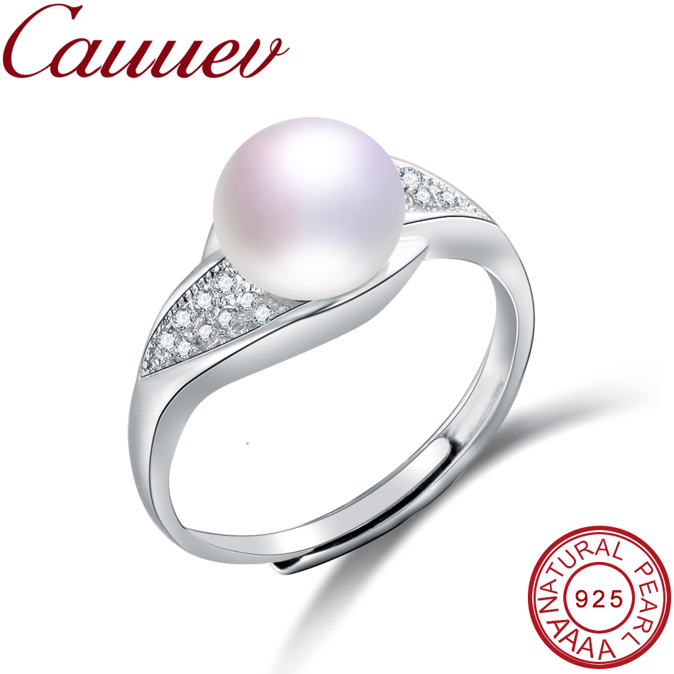 Cauuev 2018Wedding rings for women AAAA High Quality 100% Natural Pearl Rings Engagement Jewelry For women Accessories fine giftCauuev 2018Wedding rings for women AAAA High Quality 100% Natural Pearl Rings Engagement Jewelry For women Accessories fine gift