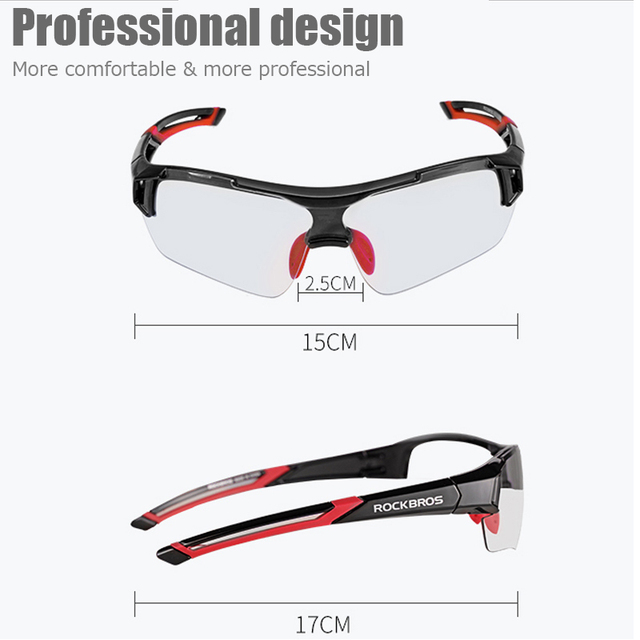 Rockbros photochromic ciclismo óculos de bicicleta esportes ao ar livre óculos descoloração mtb estrada da bicicleta eyewear 5