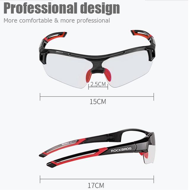 ROCKBROS Photochromic Cycling Bicycle Bike Glasses Outdoor Sports MTB Bicycle Bike Sunglasses Goggles Bike Eyewear Myopia Frame