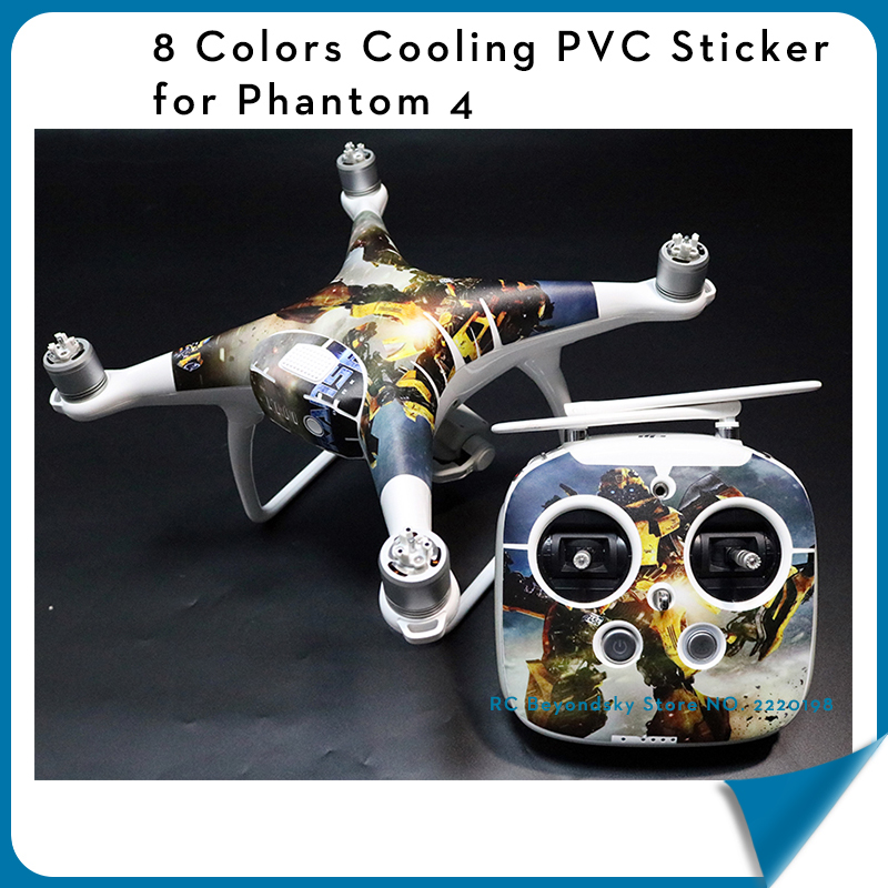 Cooling PVC Skin Decal Stickers for DJI Phantom 4 body Vinyl Film phantom 4 Accessories drone Wrap Sheet Film 8 colors