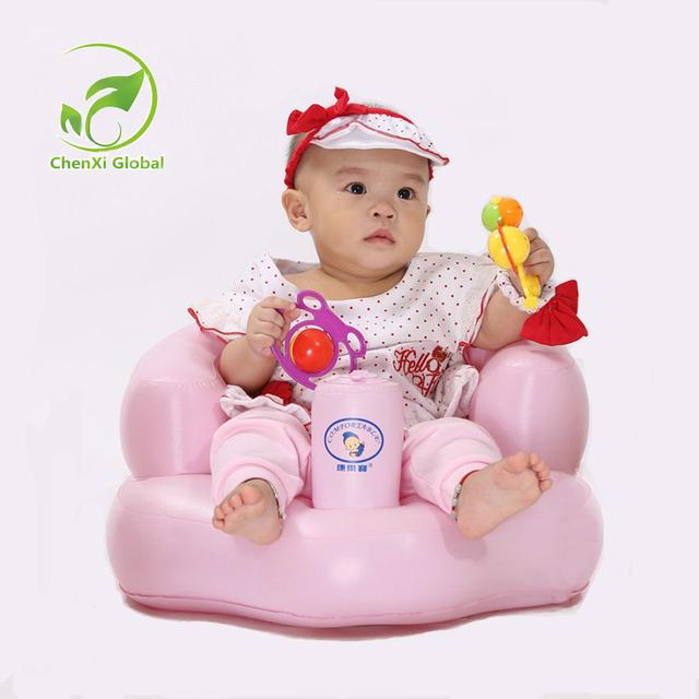 Assento De Banho Do Bebê portátil Cadeira de Jantar Cadeira de Bebê Sofá Inflável Assento Do Bebê Carrinho de Bebé Play Game Mat Sofá Crianças Aprendem Banquinho