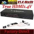 Бесплатная доставка Новый HDMI V1.4a HDMI Матричный 4X2 (4 к 2) Переключатель Switcher Splitter Усилителя 3D, 4 К X 2 К, 48 48bite глубокий цвет