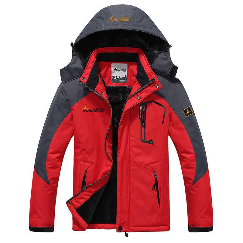 YIHUAHOO зимняя куртка мужская 5XL 6XL Толстая теплая парка пальто водонепроницаемая горная Куртка Карманы с капюшоном флисовая куртка ветровка