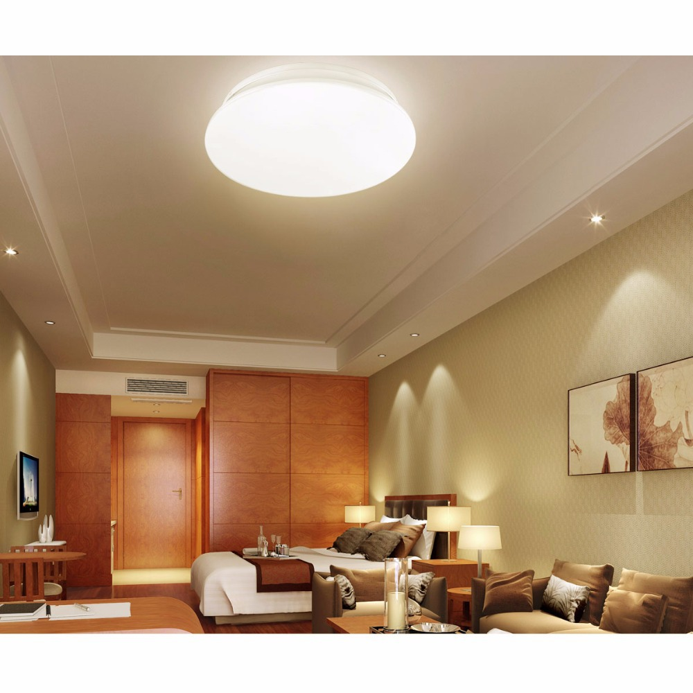 Us 39 99 le 24w led ceiling light50w fluorecent bulb equivalentwarm whiteliving room bedroom dining room flush mount ceiling lights di lampu