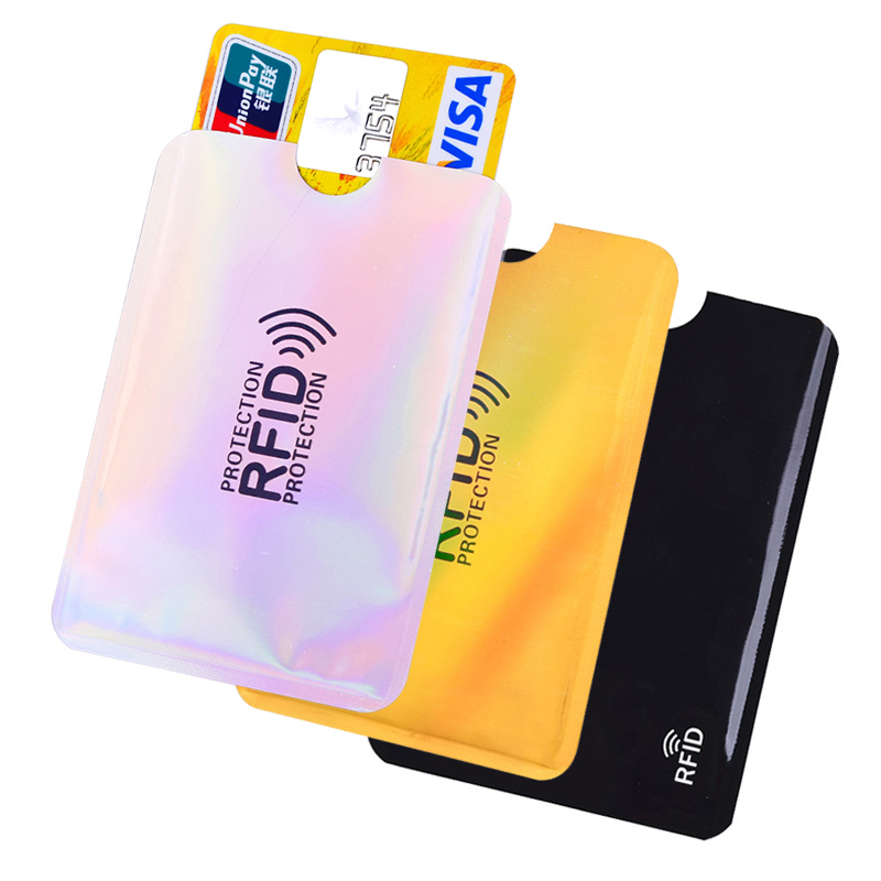 5PCS Rfid Anti-Piracy Bank Credit Card Holder Cases Aluminum Metal Credit ID Card Protective Case Card Protection Cover image