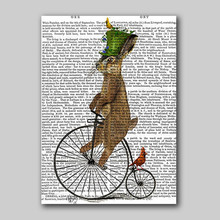 Squirrel Dog Nordic Wall Art Pictures Animal Canvas Painting Poster Home Print on Decoration For living Room Hotel Club