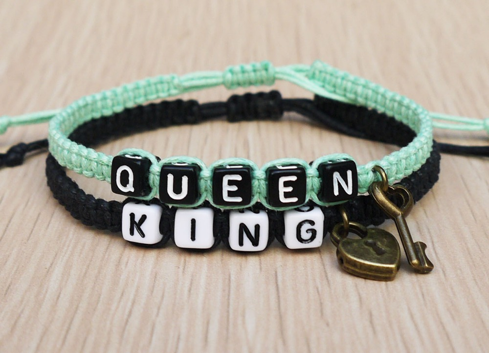Keylock S Bracelet Loves Queen King Boyfriend Friend Jewelry Christmas Gifts In Strand Bracelets From