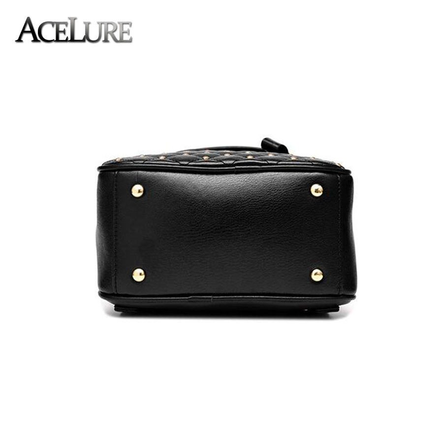 Acelure Women Backpack Hot Sale Fashion Causal Bags High Quality Bead Female Shoulder Bag Pu Leather Backpacks For Girls Mochila #5