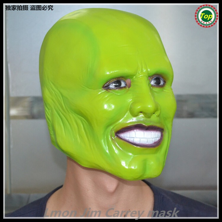 Hot!!!-Famous Magic Comedy Movie (The Mask ) Mask Latex Jim Carrey Mask Halloween Costume Cosplay/Masquerade Costume Prop/Toy
