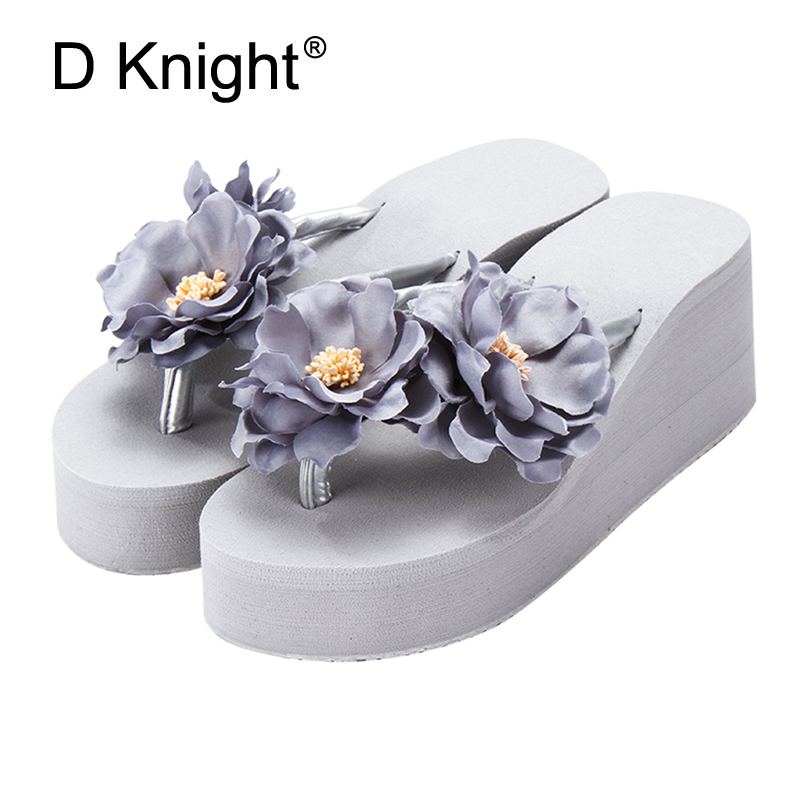 Summer Slippers Flowers Decoration Women Slides Flip Flops Beach Casual Shoes Women for Vacation and Beach Wedges Heel Sandals medicine science type blood test slides and marrow slides