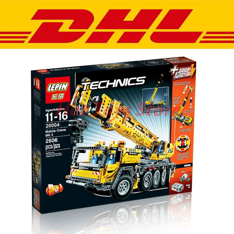 In Stock LEPIN 20004 2606Pcs Technics Mobile Crane MK II Model Building Kit Minifigure Blocks Bricks
