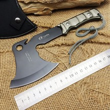 Hot Sale!!Aluminum Handle CK F08 Camping Outdoor Hunting Axe 5Cr15Mov Blade Survival Tomahawk Multifunction EDC Field Tool