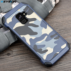 KEYSION Phone Case for Samsung Galaxy A8+(2018) Army Camo Camouflage Pattern PC+TPU 2 in1 Anti-knock Back Cover for A8 Plus 2018