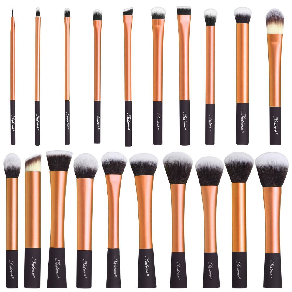 Sedona 20 Pieces soft hair dense gold makeup brush cosmetic complete kit Professional High Quality for gift or birthday