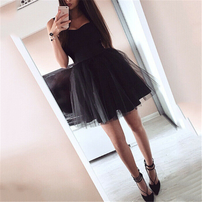 2019 Women Lace Dress Black Pink Mesh Tulle Slim Elegant Lady Princess Bridesmaid Wedding A-Line Party Dresses Female Vestido
