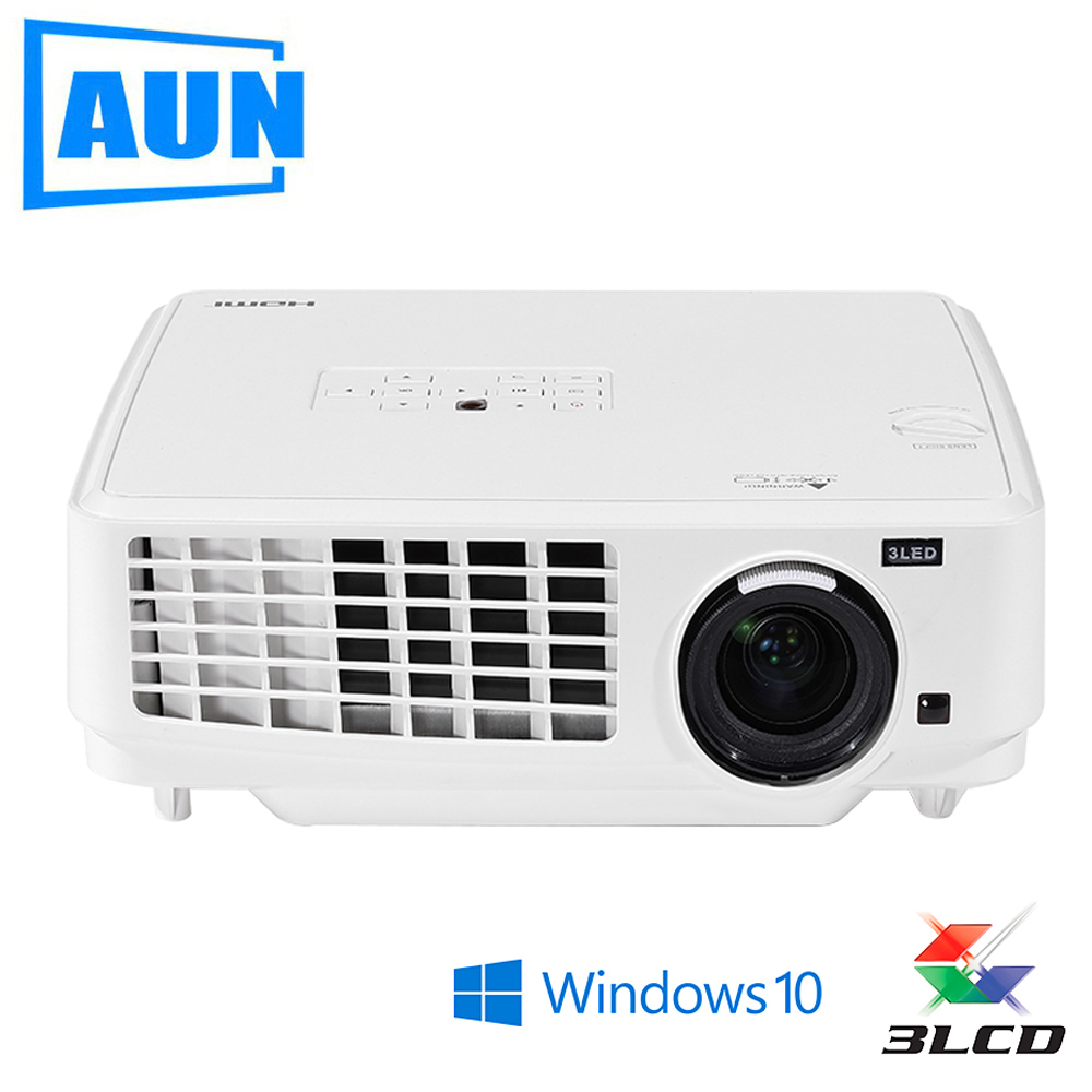 Brand AUN 3LCD Projector, Ubeamer1S, 4000 Lumens, 1024x768. Set in Windows10, WIFI,Bluetooth, HDMI. (Optional Ubeamer1) ...