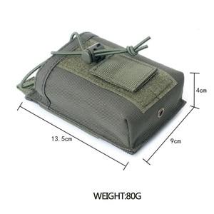 Image 5 - 1000D нейлоновый Открытый тактический Чехол, спортивная подвеска, военный Молл, радио, держатель рации, сумка для охоты, журнальные карманы