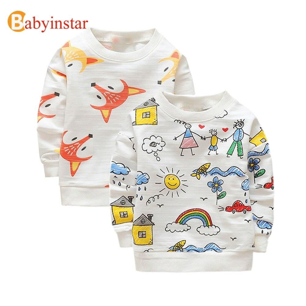 Babyinstar 2019 חדש סתיו ילדים להלביש תינוק בני נים & חולצות תינוקת של בגדי חולצות פעוט תלבושת