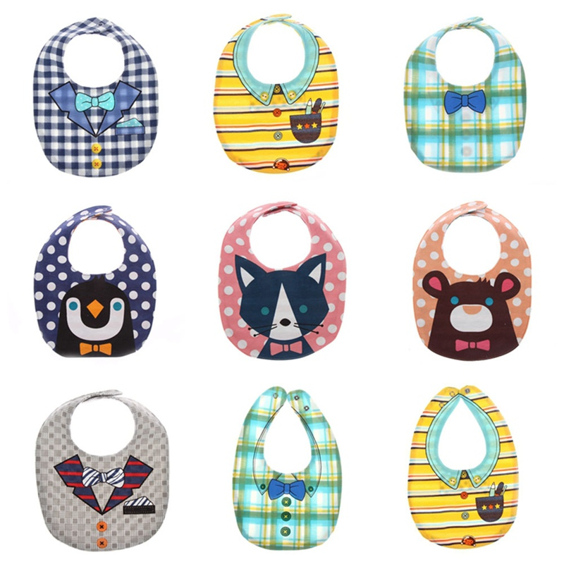 Baby Bibs Soft Baby Feeding Apron Cute Fox Burp Cloths Newborn Bandana Children Clothing Accessories Bibs Color Random ...