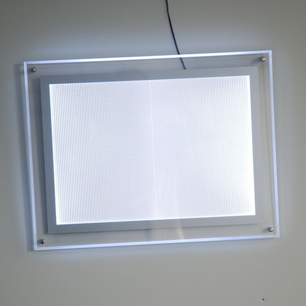 20units X A3 Single Sided Wall Mounted Acrylic Frame Led Illuminated