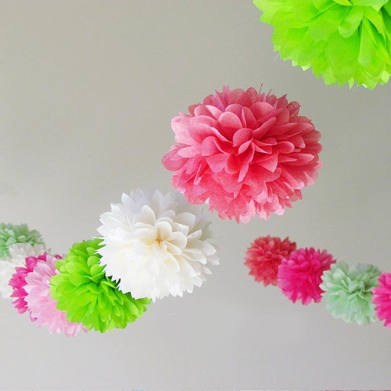 20pcs 16inch tissue paper pom poms baby shower party wedding 20pcs 16inch tissue paper pom poms baby shower party wedding background decoration hanging paper flower balls in artificial dried flowers from home mightylinksfo