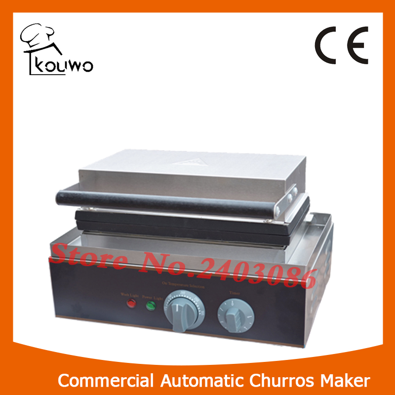 KOUWO Portable commercial electric churros maker churros making machine for sale KW-622 12l electric automatic spain churros machine fried bread stick making machines spanish snacks latin fruit maker