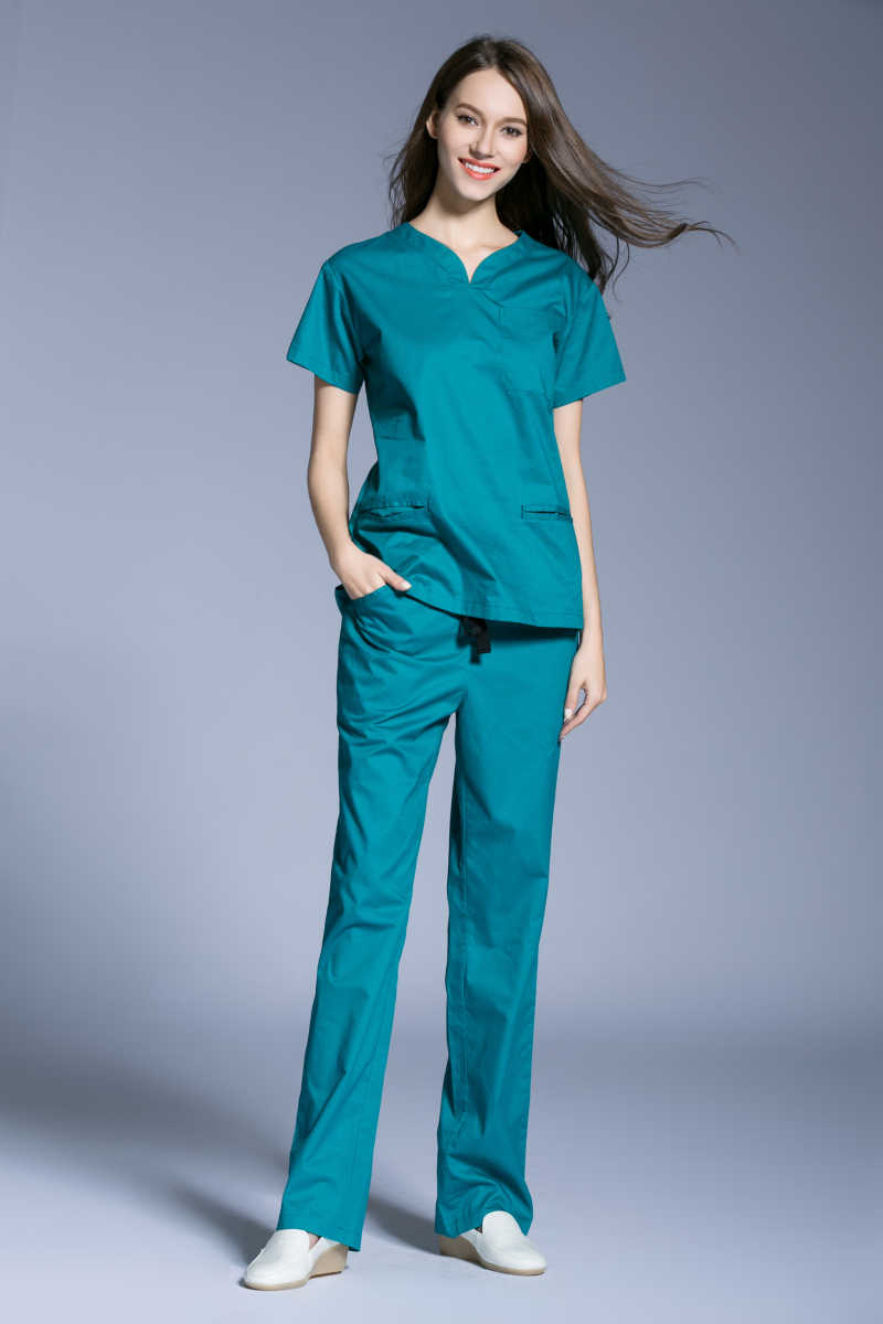 9b140da73a8 ... Surgical Cap Hot Sale 2017 New Medical Scrubs Women Short Sleeve Scrub  Uniforms Set Dental Clinic ...