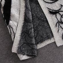 Abstract Pattern Loose Bat Sleeve Cardigan