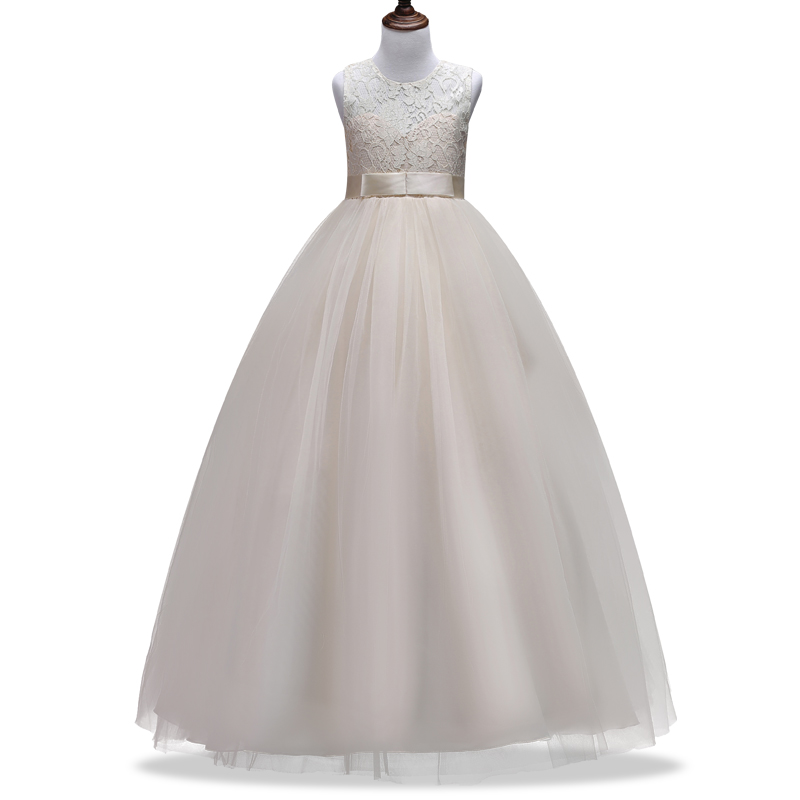 New 4-14yr Girl Dresses New Year Clothes Girls Birthday Wedding Party Pageant Sleeveless Long Princess Dress  Christmas Costume dresses for girls wedding dress charistmas dresses birthday kids baby girl clothes princess dress new year party clothing gh334