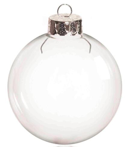Free Shipping DIY Paintable Transparent Christmas Ornament Decoration 66mm  Glass Ball With Silver Top, 100/Pack - Free Shipping DIY Paintable Transparent Christmas Ornament