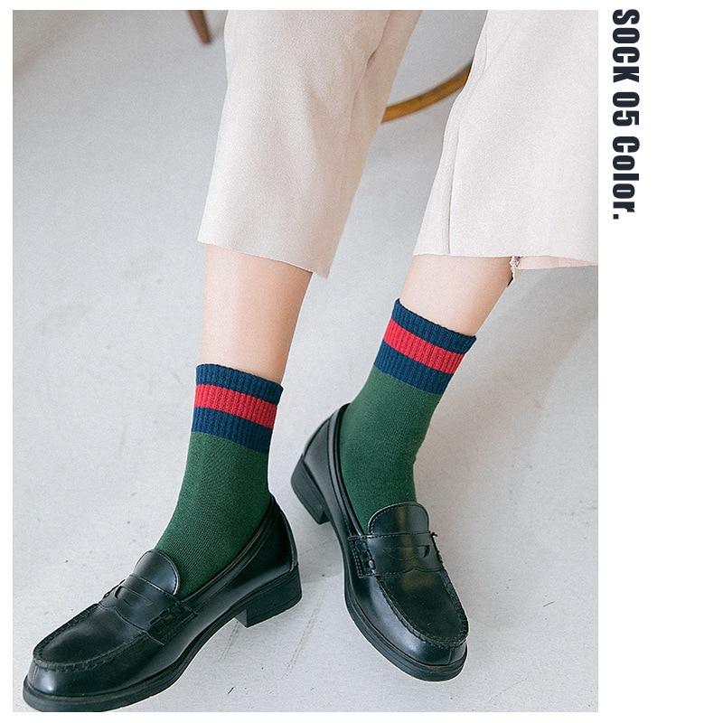 PEONFLY Japanese harajuku Autumn Woman   Socks   Broadside Spelling Color streetwear hop hip   Socks   casual Ventilation Cotton   Socks
