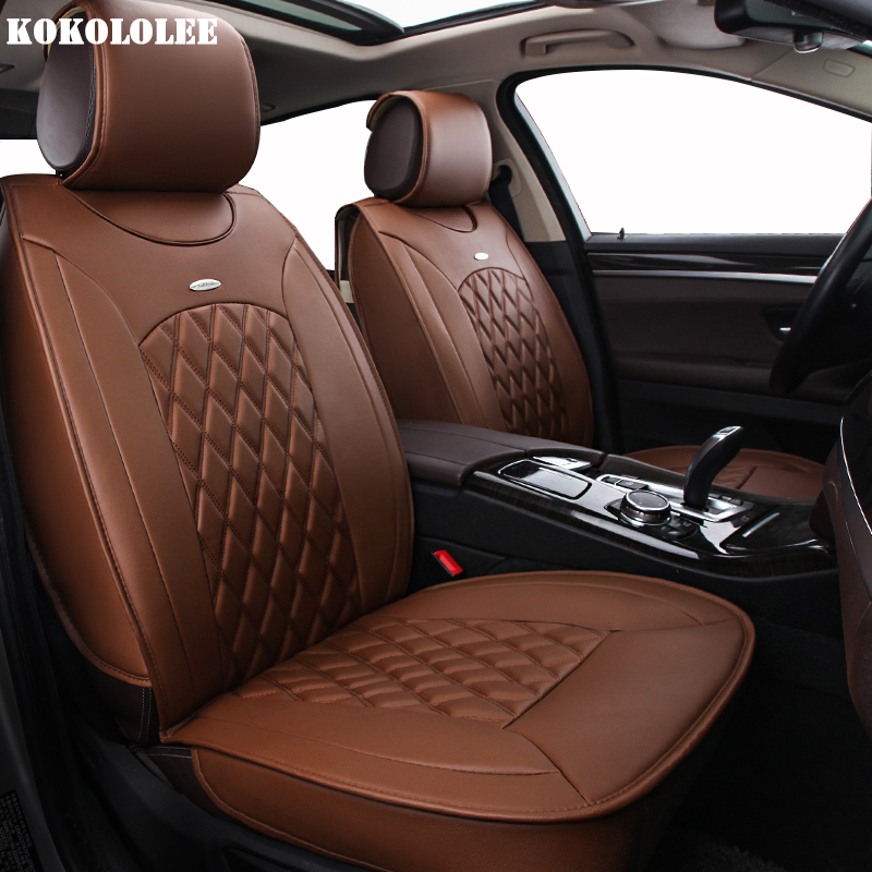 KOKOLOLEE pu leather Car Seat Covers For Mitsubishi All Models ASX Lancer SPORT EX Zinger FORTIS Outlander Grandis accessories liquid car covers for interiors super hydrophobic car seat and leather self cleaner water repel nano coating sofa upholstery