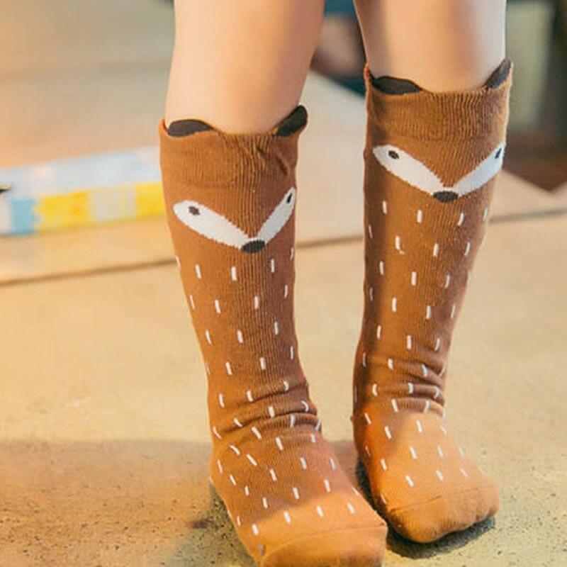 1 Para Baumwolle Baby Socken Fuchs Nette Knie Warmen Boden Socken Von 0-4 Jahre Für Junge Mädchen Nicht -slip Sparen Sie 50-70%