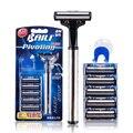 7 pçs/set Moda Vintage Retro Útil Durável dos homens Clássico Cromo Mão Manual de Máquina de Barbear Safety Razor Double Edge