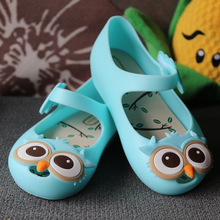 2017 NEW Stereoscopic Owl Shoes Mini Melissa Princess Sandals Melissa Jelly Shoes Baby Shoes Toddler Girl Sandals Non-Slip
