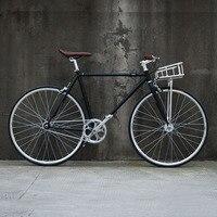 Ретро дорожный мотоцикл 700C фиксированные передачи велосипед трек Односкоростной велосипед 48 см 52 см Односкоростной велосипед винтажные из