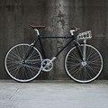 Fixie велосипед 700C с фиксированной передачей велосипедный трек односкоростной Ретро дорожный велосипед 700C винтажная рама 48 см 52 см