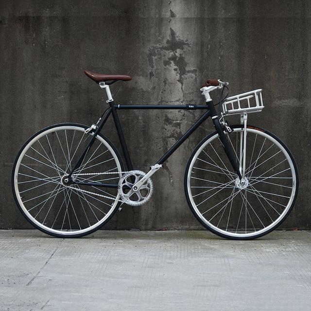 Retro road bike 700C fixed gear bike Track single  speed Bike 48cm 52cm  fixie bike vintage DIY frame