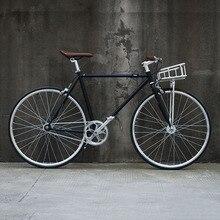 Cuadro de bicicleta de carretera Retro 700C de engranaje fijo de bicicleta de una sola velocidad cuadro de bicicleta 48cm 52cm bicicleta fixie vintage con cesta