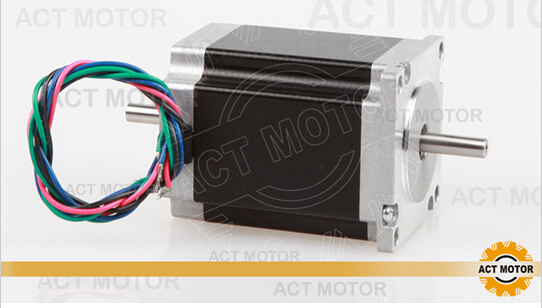 ACT Motor 1PC Nema23 Stepper Motor 23HS8630B Dual Shaft 6-Lead 270oz-in 76mm 3.0A CE ISO ROHS CNC RouterACT Motor 1PC Nema23 Stepper Motor 23HS8630B Dual Shaft 6-Lead 270oz-in 76mm 3.0A CE ISO ROHS CNC Router