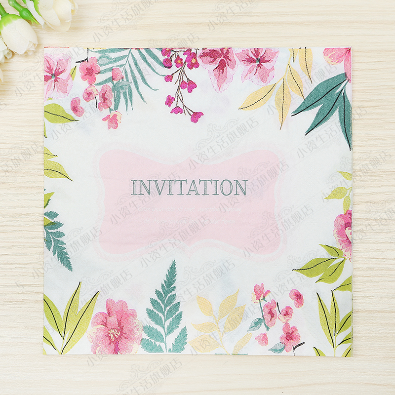 Fresh Flowers Painting Design Paper Napkins Cafe & Party Tissue Napkins Decoupage Decoration Paper 33cm*33cm 20pcs/pack/lot