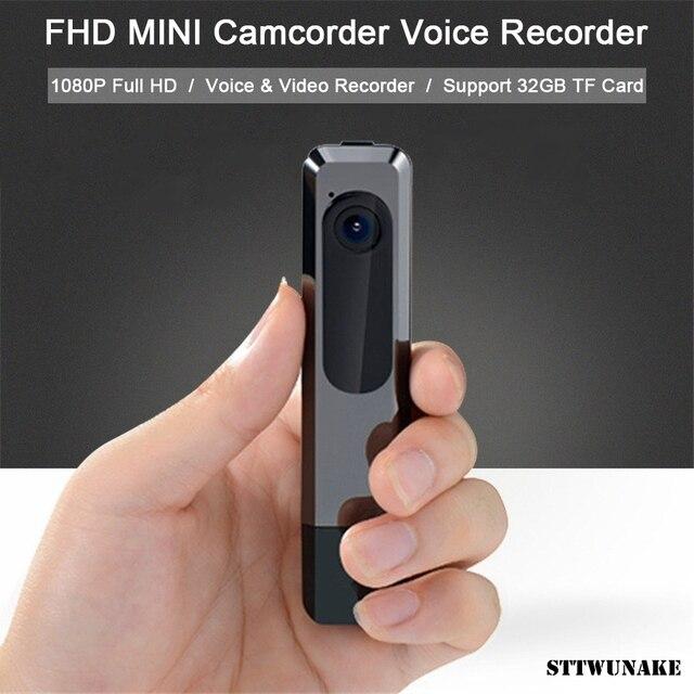 STTWUNAKE Mini cámara DV de visión nocturna, grabación ininterrumpida, 1080P, Full HD, videocámara deportiva, grabadora de vídeo/voz