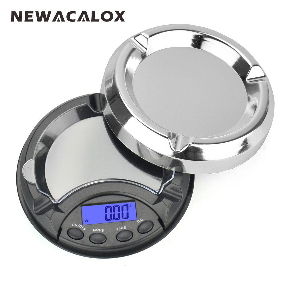 NEWACALOX 200g x 0.01g LCD Digital Jewelry Scales for Gold Sterling Silver Scale Ashtray Mini Pocket Balance Electronic Scales 10x 116x64x17mm silver plastics 100g x 0 01g mini digital jewelry pocket scale lcd