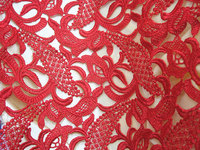 Off White lace fabric with crocheted 3d daisy flowers, high quality chic DIY sewing supplies african lace fabric