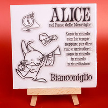 ФОТО rabbit transparent clear silicone stamp cutting dies set for diy scrapbooking/photo album decorative