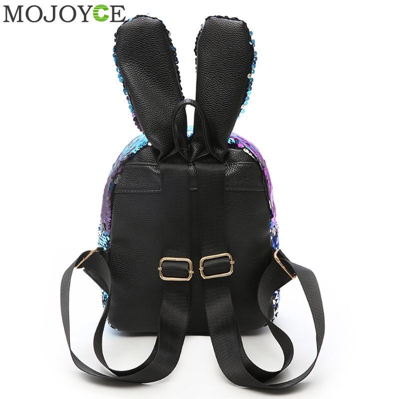 Luggage & Bags Women's Bags 2018 Shining Sequins Women Backpacks Teenage Girls Travel Bagpack Rabbit Ears Mini School Bags Women Bling Backpack Mochilas