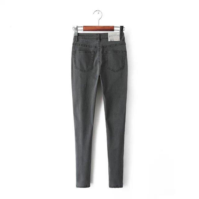 2019 New Arrival Women's Clothes For Autumn Jeans Thin High Waist Plus Size Button Elastic Female Denim Slim Pencil Trousers