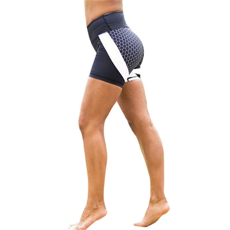 Hirigin Jogger   Shorts   2019 New Geometric Print Women Running   Shorts   Sport Gym High Waist Fitness   Short   Pants Workout Casual L2